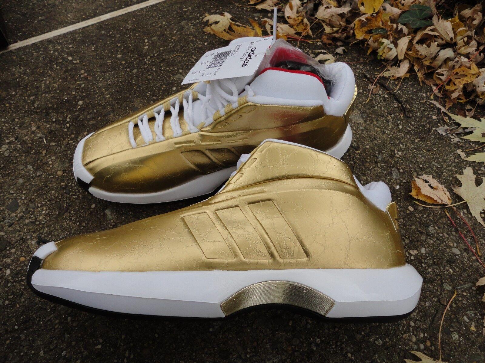 Adidas Crazy 1 Kobe 8  Awards Season   RARE DEADSTOCK gold basketball sneakers