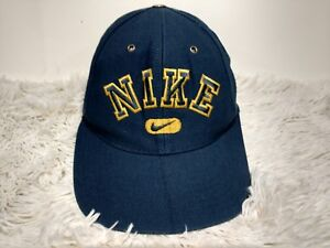 Image is loading Vintage-90s-Nike-Spellout-Logo-Snapback-Hat-Swoosh- 1365a225c14