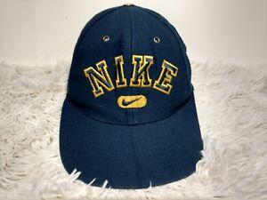 Image is loading Vintage-90s-Nike-Spellout-Logo-Snapback-Hat-Swoosh- 9350cbe1898