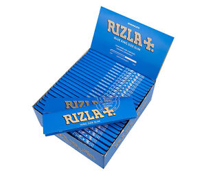 RIZLA-BLUE-KING-SIZE-SLIM-GENUINE-CIGARETTE-SMOKING-ROLLING-PAPERS-ORIGINAL