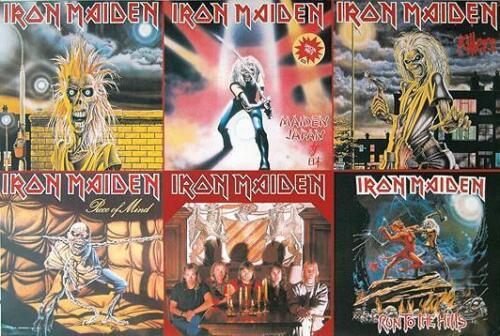 """IRON MAIDEN POSTER """"EARLY COVERS"""""""