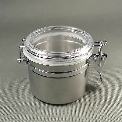 New White Stainless steel Tobacco Jar Seal moisture Airproof Pot SG51