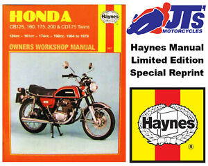 haynes manual honda cb125 cb160 cb175 cd175 cb200 64 78 ebay rh ebay com honda cb175 manual download honda cd175 manual
