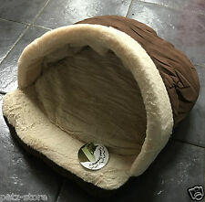 Small Puppy Toy dog or small cat Bed Igloo Cave faux suede with soft fleece