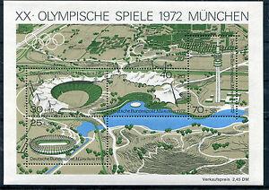 Bund-Block-7-postfrisch-Olympische-Spiele-Muenchen-1972-BRD-723-726-MNH