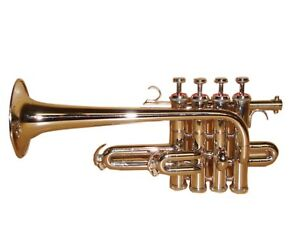HOT-SALE-Bb-A-Flat-PICCOLO-TRUMPET-NICKEL-PLATED-WITH-FREE-HARDCASE-MOUTHPIECE