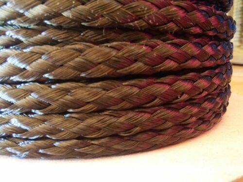 "spool of 8 strand Hollow Braid Polypropylene Rope.Black. 5//16/"" x 400 ft"