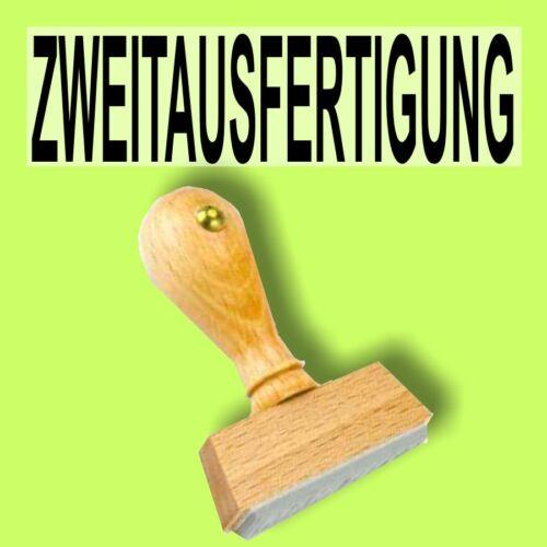 ZWEITAUSFERTIGUNG Holzstempel 10 x 35mm Büro Stempel
