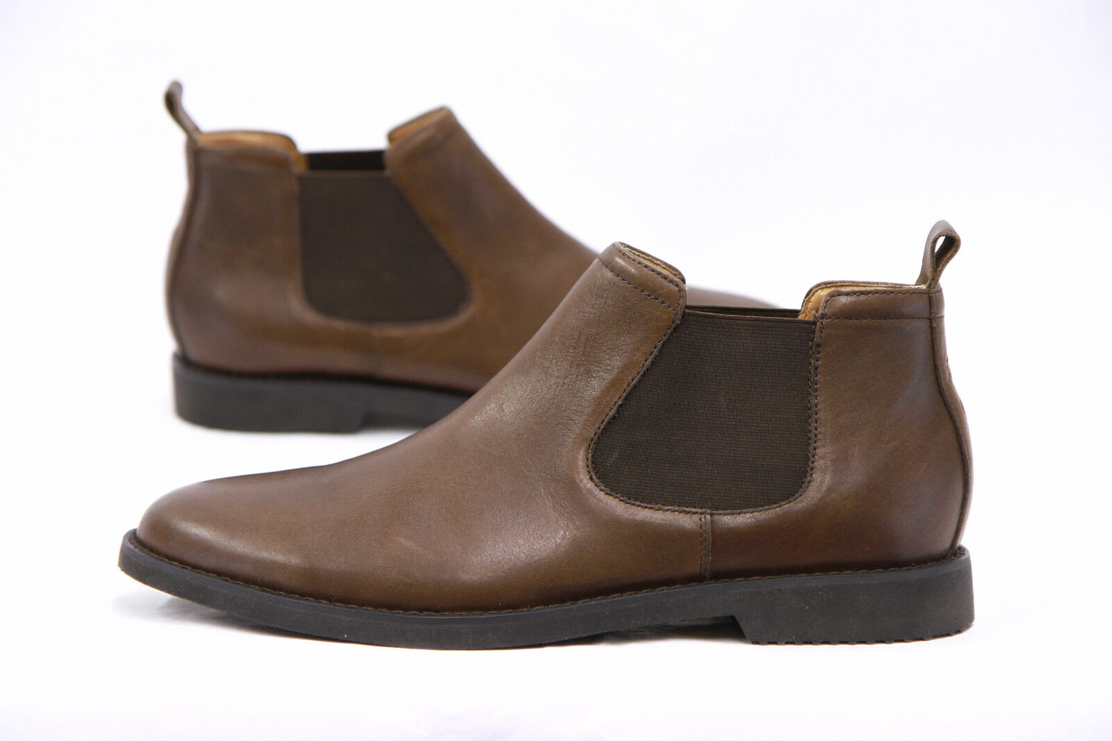 .NWOB Ralph Lauren Polo Uomo 100%Pelle Brown Waterbury Chelsea Stivali Sz 14D