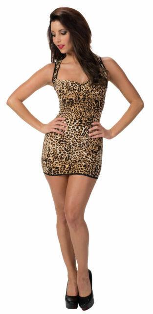 One Siz Escante Wild Imagination Leopard Animal Print Mini Dress w// Cutout Back