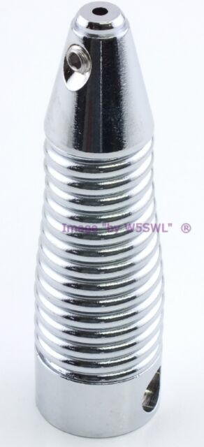 """Sold by W5SWL Tram 1214 Chrome Stainless Steel Spring for .100/"""" Diameter Whip"""