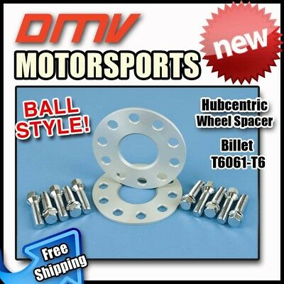8MM Hubcentric Wheel Spacers Silver Ball Bolts Bentley 5x112 57.1 14x1.5