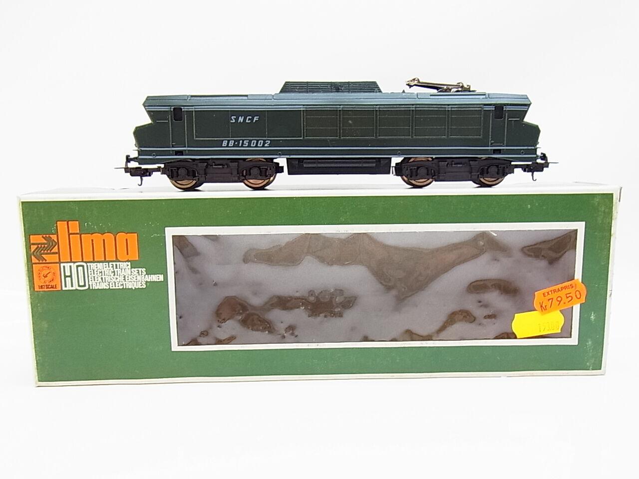 44129   hermosa Lima h0 8044 e-Lok bb-15002 de la SNCF verde en OVP