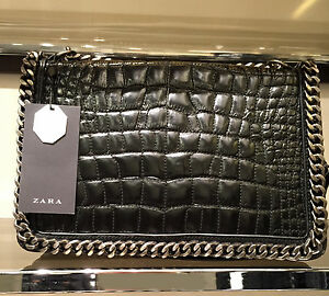 d195de844db6 Details about ZARA NEW WOMAN CROSSBODY BAG WITH EMBOSSED CHAIN SHOULDER  Ref. 4067/304