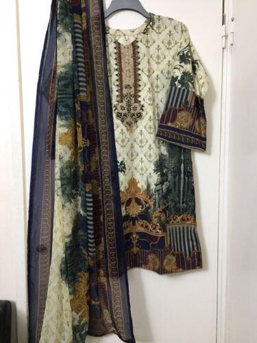 100/% Original.S//L Stitched Baroque  Pakistani Embroidery Lawn Suit
