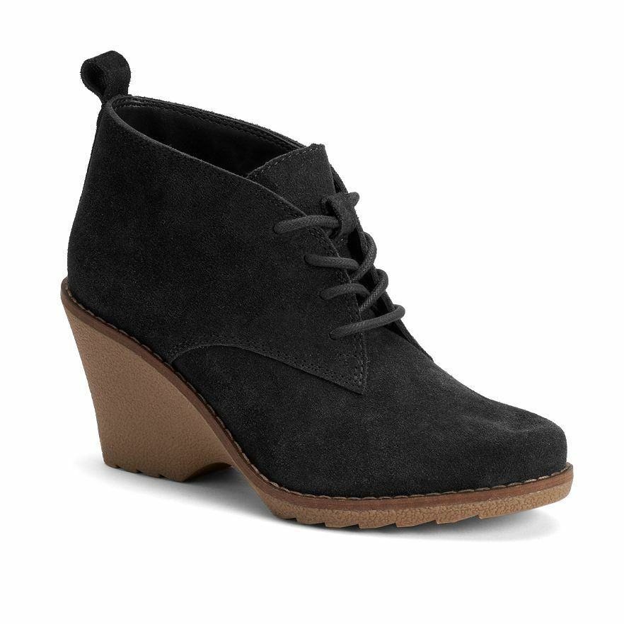 NWT Women's SONOMA Goods for Life Suede Ankle Boots Choose Size Black