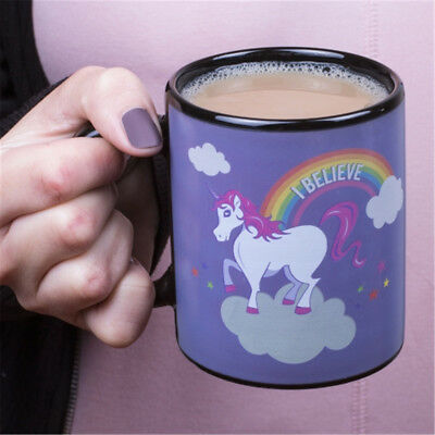 NEW Color Changing Magic Unicorn Ceramic Cup Coffee Tea Mug Novelty Magical Gift