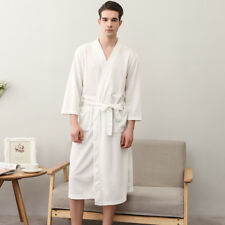 ee4d4070cb item 6 Men Women Cotton Waffle Bath Robe Suck Sweat Kimono Bathrobe Summer  Nightgowns 1 -Men Women Cotton Waffle Bath Robe Suck Sweat Kimono Bathrobe  Summer ...