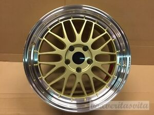 18 Quot Lm Mesh Style Gold Wheels Rims Fits Subaru Impreza Wrx