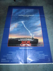 SHORT CIRCUIT(1986)ALLY SHEEDY ORIGINAL ONE SHEET POSTER MINT UNUSED