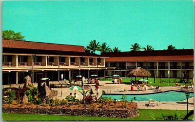 Vintage 1950s Suva Fiji Postcard Travelodge Hotel Pool Scene Chrome Unused Ebay