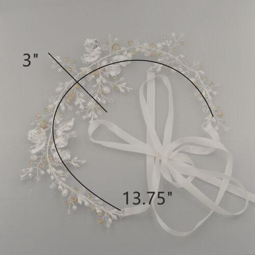 Crystal Freshwater Pearl Bridal Hair Vine Wedding Headband Headpiece Tiara 773S
