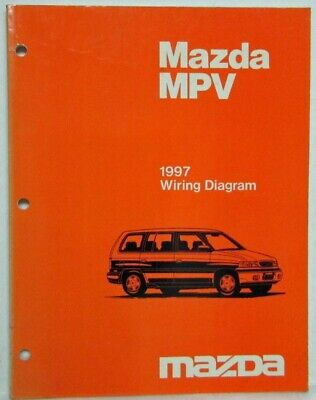 1997 mazda mpv electrical wiring diagram  ebay
