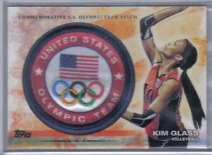 Kim-Glass-2012-Topps-U-S-Olympic-Team-amp-Hopefuls-Team-Patch-ULP-KG-Volleyball