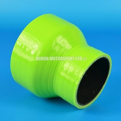 Silicone Hose Straight Reducer Green All Sizes Available Black Liner