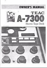 TEAC Bedienungsanleitung user manual owners manual  für A- 7300