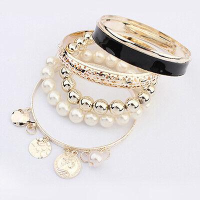 Fashion Charm Women Lots Style Gold Rhinestone Bangle Jewelry Cuff Bracelet HOT