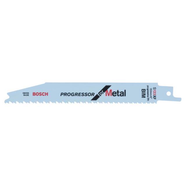 Bosch Hoja Sierra Reciprocante S 123 XF, Progressor para Metal, 5er