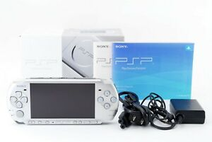 Sony-PSP-3000-Mystic-Silver-Console-w-Box-and-Charger-Japan-Excellent