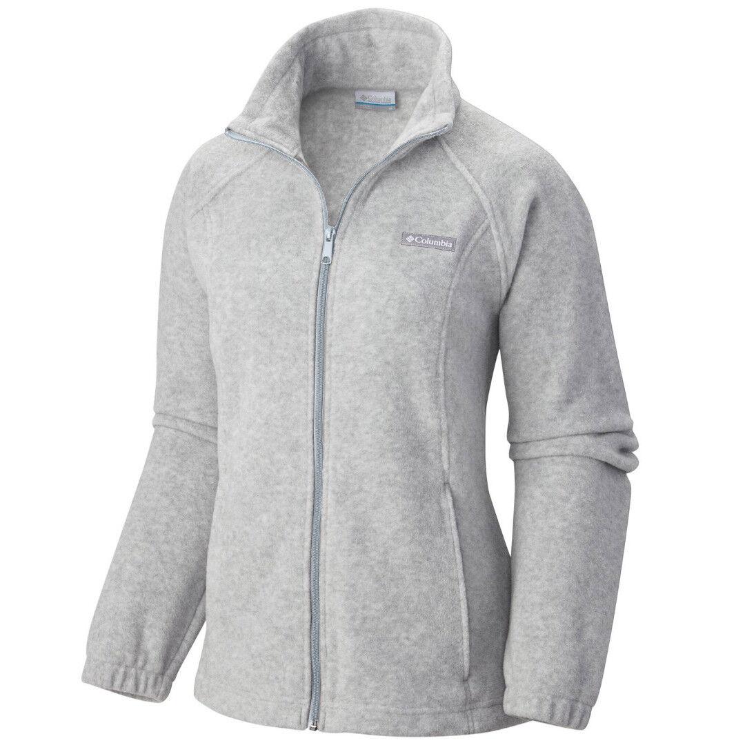COLUMBIA Benton Springs Full Zip Fleece Jacket Women S Small Deep Blush684 NWT