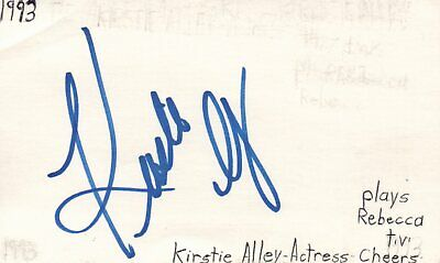 Autographs-original Kirstie Alley Actress Rebecca In Cheers Tv Show Autographed Signed Index Card Entertainment Memorabilia