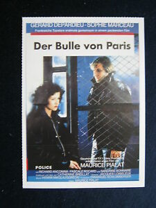 Filmplakatkarte-cinema-Police-Der-Bulle-von-Paris-G-Depardieu-S-Marceau