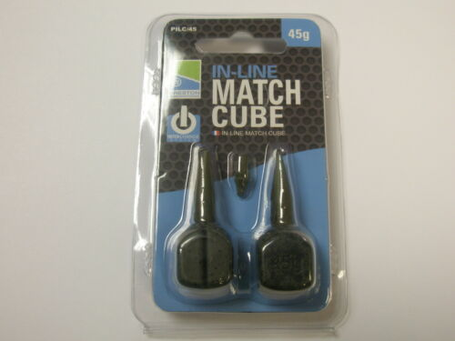Preston ICS Inline Match Cube Weights 2pk ALL VARIETIES Fishing tackle