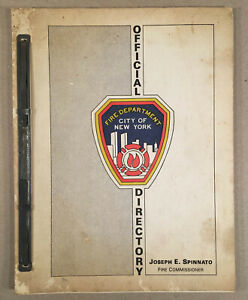 1983-FIRE-DEPARTMENT-CITY-OF-NEW-YORK-FDNY-Official-Directory-Internal-Document