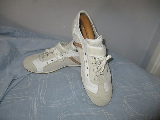 Men's Alessandro Dell' Acqua Made in   Suede Leather Textile Sneakers