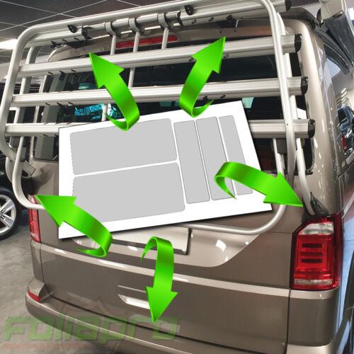 Protección de pintura diapositivas-set para original VW t5 portador popa portabicicletas autobús pegatinas