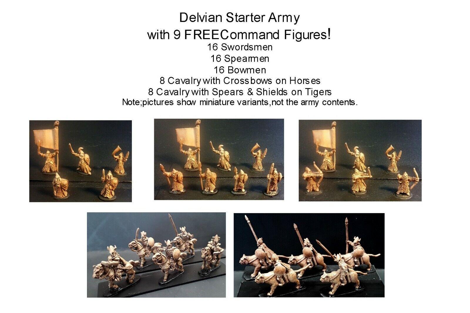 15mm ejército de fantasía Delvian arranque (73 Figuras)