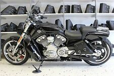 Harley V-ROD MUSCLE LEFT Side BLACK SOLO BAG Saddlebag - VRL02 BAD&G CustomS