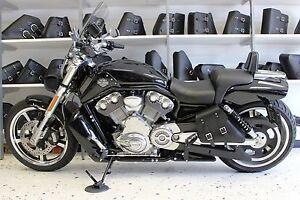 Harley V-ROD MUSCLE LEFT Side BLACK SOLO BAG Saddlebag - VRL02 BAD&G ...