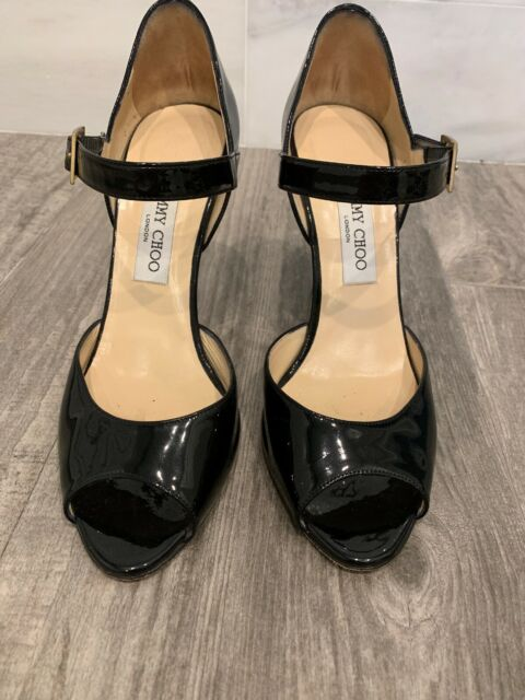 nice shoes timeless design various styles Jimmy Choo Mabel 95 Mirror Leather Mary Jane Pump 40.5 for sale ...