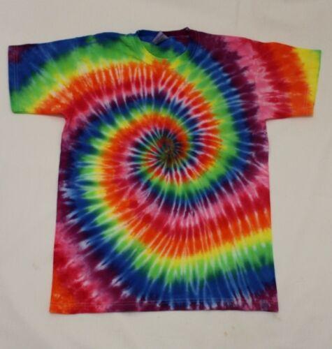 Tie Dye Unisex Women T-Shirt Present Yoga Festival Gym Surf Beach Gift RAINBOW