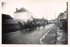 Deutsche Soldaten Marsch Strasse in Flandern Belgien