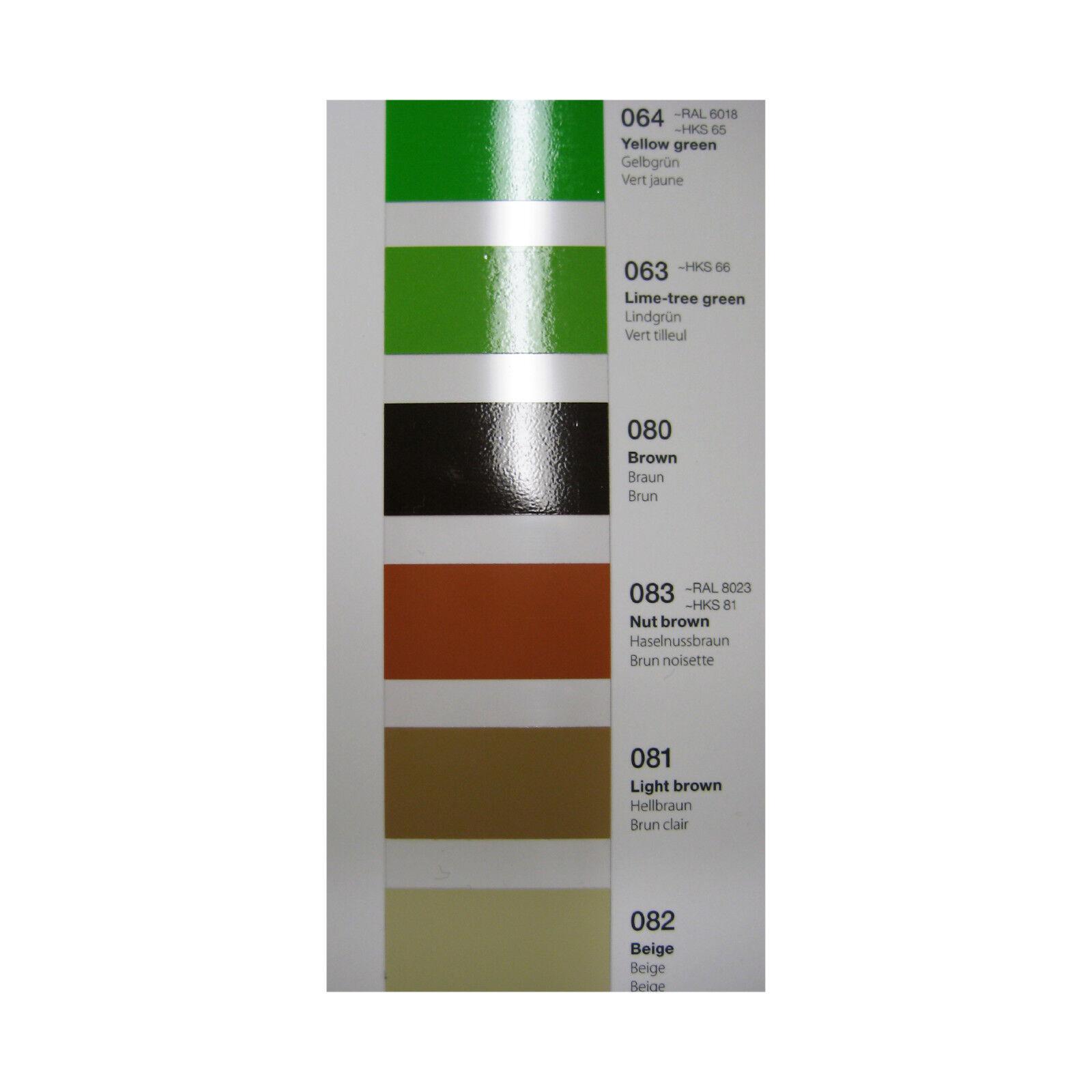 Oracal 651 Color Fan Colour Patterns Chart Booklet Folder for Films Cutters