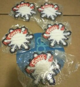 Vintage-Coors-Beer-Light-Up-Snowflake-Retro-Gift-Tags-LOT-of-5-NEW-in-Plastic