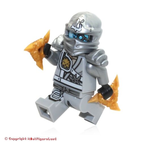 Titanium Ninja Light Bluish Gray Armor LEGO NinjaGo MiniFigure Zane 71217