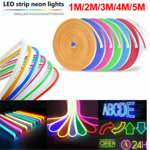 1-2-3-4-5m-Waterproof-LED-Strip-Neon-Lights-2835-SMD-Flexible-12V-Silicone-Tube